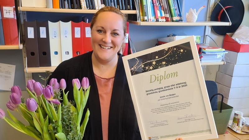 Jennie von Bergen, vinnare pedagogiska priset 2020